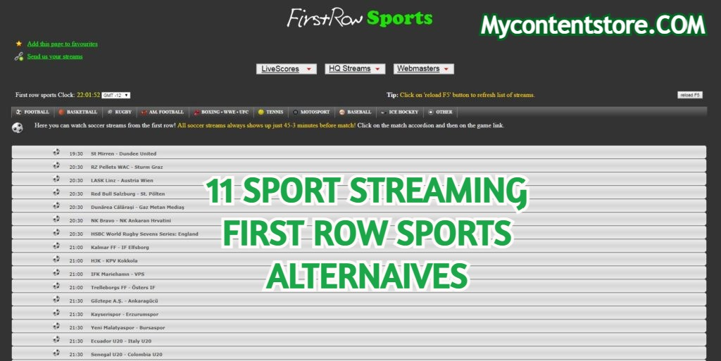 Sites Like First Row Sports